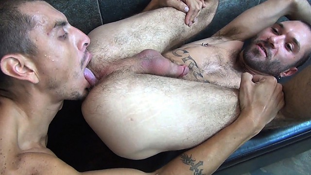 Crash Michaels fucks a load into Ethan Palmer's hole
